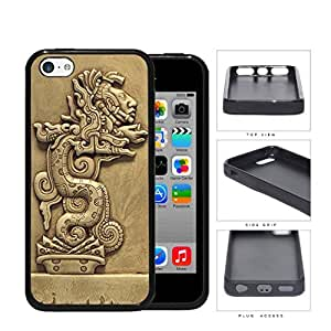 Beast Devours Man Mayan Clay Sculpture Rubber Silicone TPU Cell Phone Case Apple iPhone 5c