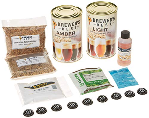 Brewer's Best Home Brew Beer Ingredient Kit-5 gallon (Peanut Butter Brown)