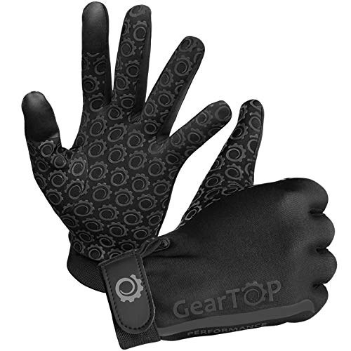 GearTOP Touch Screen Gloves - Great for Running Rugby Football Walking (Black, Small)