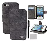 Case for iPhone 5 5s - xhorizon TM ZY [Stand Feature] [Wallet Function]