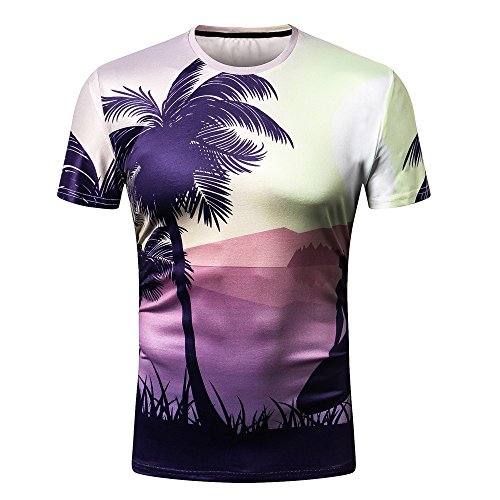 G-Real 2019 New Summer Personality Men's Casual Slim Short Sleeve 3D Printed Shirt Top Blouse