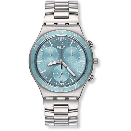 Swatch Irony Clear Water Blue Dial Stainnless Steel Ladies Watch YCS589G
