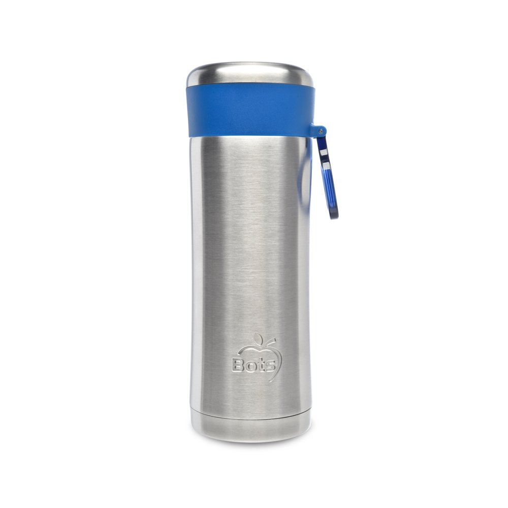 LunchBots Insulated Kids' Water Bottle (12oz) - Keeps Drinks Cold for 24 Hours - Lightweight Stainless Steel - Double Walled, Dishwasher Safe and Durable - Aqua LB-B1-350-AQUA