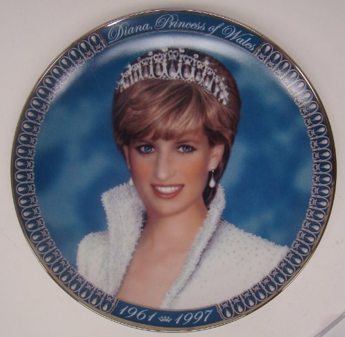 Diana Princess Of Wales Plate -- Franklin Mint Heirloom - Heirloom Porcelain