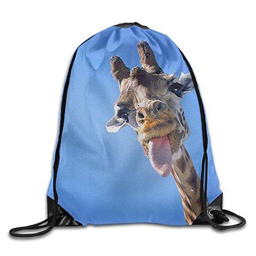 Cool Drawstring Backpack Cute Giraffe Art Design Print Drawstring Backpack Rucksack Shoulder Bags Gym Bag