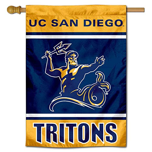 College 2 Sided Banner Flags - San Diego Tritons Two Sided and Double Sided House Flag