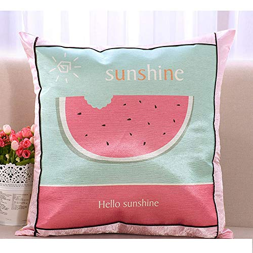 - Nuanxin Summer Ice Silk European Pillow Office Rattan Chair Cushion Ice Silk Fabric Cool Without Ice Soft and Comfortable Anti-Static Pillow Core / 5050cm Q10