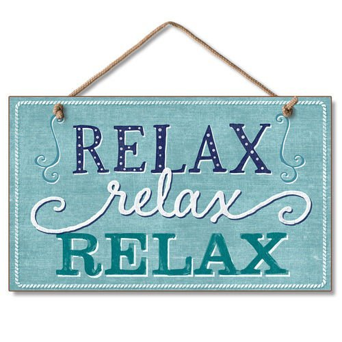 Relax Calming Tropical Sign product image