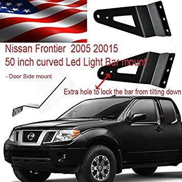 Amazon nissan frontier 2006 2016 led light bar brackets for nissan frontier 2006 2016 led light bar brackets for 50 inch curved side mount aloadofball Choice Image