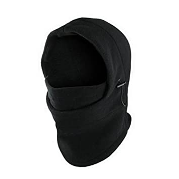 6 in 1 Full Face Cover Neck Balaclava Winter Face Hat Thermal Fleece Hood  Ski Mask Warm Helmet 04469410c17d