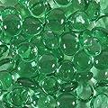 Dashington 5 Pounds- Flat Green Glass Marbles for Vase Filler, Table Scatter, Aquarium Decor