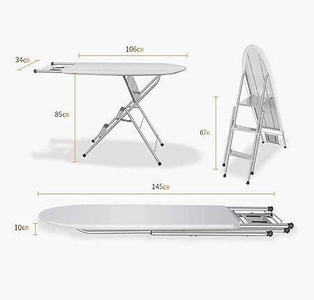 Tabla de portatablas Tabla de planchar plegable, alta tabla de planchar soporte metálico escalera de doble portadora tabla de planchar, adecuado for artículos de uso doméstico en interiores de lavande: Amazon.es: Hogar