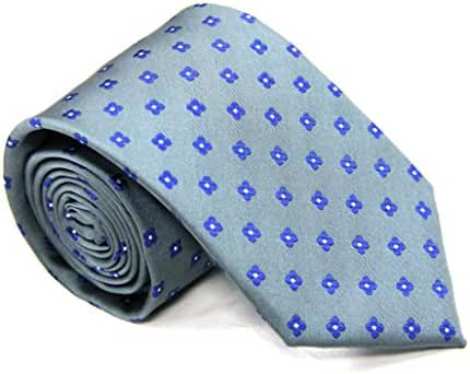 Grey Blue Flower Skinny Tie | 5 Year Warranty | Gifts for Men | Groomsmen Accessories