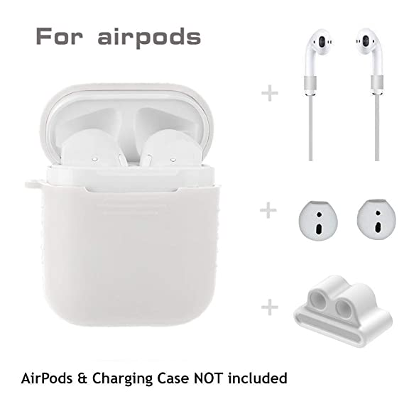 c6ec6c1186d 5 in 1 Airpods Accessories Kits Protective Silicone Cover and Skin for Apple  Airpods Charging Case