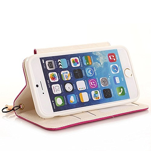 Stylish Case iPhone Plus Leather Case Protective Cover iPhone 5 Inch Cards Stand Plus Girls For Wallet 8 with 8 5 Women Proof Handbag Case Wallet Cover Scratch Pink White A01 Rose for PU Flip Holder IwUqXvXf