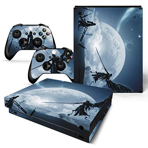EBTY-Dreams Inc. - Microsoft Xbox One X Scorpio - Final Fantasy VII (FFVII) Cloud & Sephiroth Vinyl Skin Sticker Decal Protector