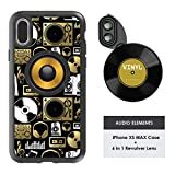 Ztylus Designer Revolver M Series Camera Kit: 6 in 1 Lens with Case for iPhone Xs Max, iPhone Lens Kit - 2X Telephoto Lens, Macro, Super Macro Lens, Wide Angle Lens (Audio Elements)