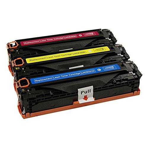 3pk CE321A CE322A CE323A Cyan Magenta Yellow Toner Fits H...