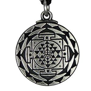 Sri Yantra Great Wealth Hindu Goddess Pendant Tantric Yoga Hindi Jewelry