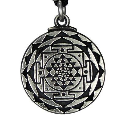 Amazon pewter sri yantra great wealth hindu goddess pendant pewter sri yantra great wealth hindu goddess pendant mozeypictures Choice Image