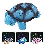 Musical Turtle Led Night Light Sky Star Novelty Lamp Children Toy Song Music Lighting Baby Sleep Light In Pink Yellow Green Blue (blue)