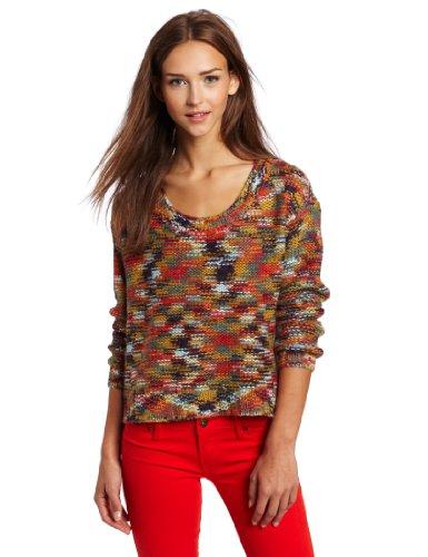 Roxy Juniors Elm Stripe Pull Over Sweater