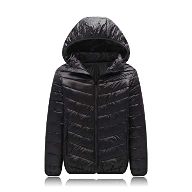 e1fe912d88c UGREVZ Unisex Big Girls Boys Light Winter Outerwear Teens Hooded Down Jacket  Coat 9-13T