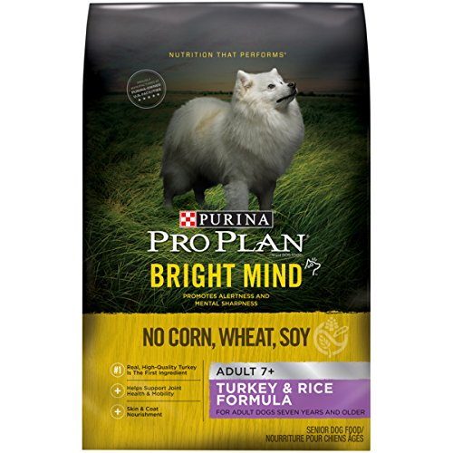 (Purina Pro Plan Senior Dry Dog Food; BRIGHT MIND Turkey & Rice Formula - 24 lb. Bag)