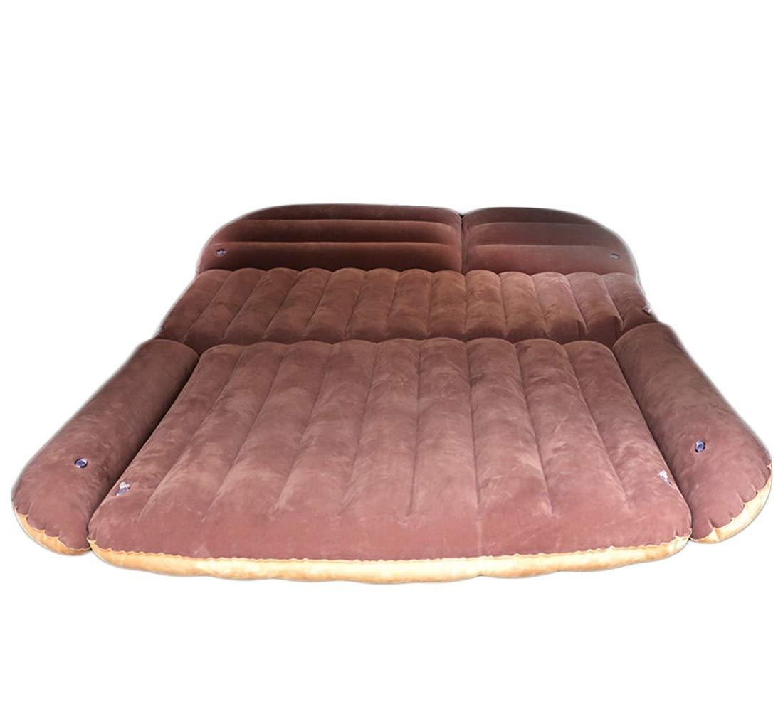 FELICIGG Reise-aufblasbare Matratze-tragbares Auto-Luft-Bett-Kissen, Das SUV kocht, verlängerte Luft-Couch mit Pumpe (Farbe : Braun-Beige)