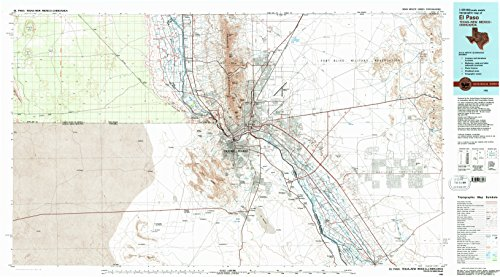 El Paso TX topo map, 1:100000 scale, 30 X 60 Minute, Historical, 1983, updated 1983, 24.1 x 43.5 IN - - Tx Vista Paso El