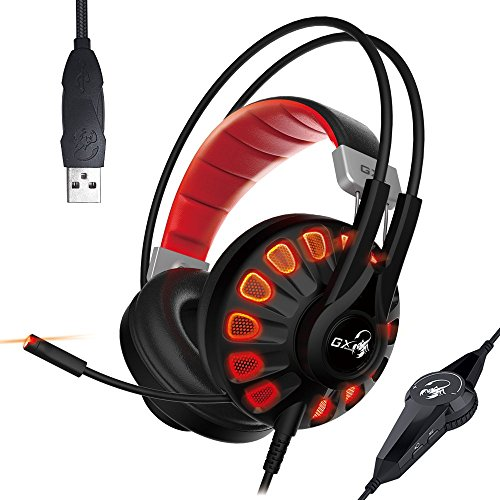 Genius Gaming Headset HS-G680 with 7.1 Channel Virtual Surround Sound Engine, 50mm Large Tuned Driver, Noise Isolating Microphone, Comfortable Headband for Windows PC, Desktop and Laptop Computers