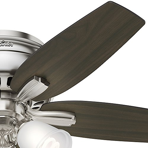 Hunter 51079 Hunter Newsome Low Profile with 3 Kit Ceiling Fan with Light, 42'', Brushed Nickel by Hunter Fan Company (Image #4)