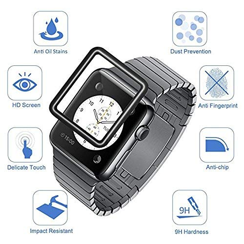 [2 - Pack] Apple Watch Screen Protector 44mm, Tempered Glass Screen Protector, Anti-Scratch, Full Coverage Scratch-Proof Screen Film Compatible Watch 44mm Series 4