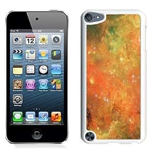 NEW Unique Custom Designed iPod Touch 5 Phone Case With Orange Nebula Deep Space_White Phone Case