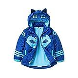 PJMASKS Toddler Boys' Catboy Puffer Coat, Blue, 2T