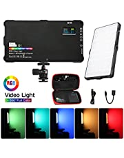 Camera Video Light Pocket Size Led Video Light 2500K-8500K Pocket Size Camare Photo Lighting Built in Battery for YouTube Photography Shooting