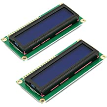 HiLetgo 2pcs HD44780 1602 LCD Display Module DC 5V 16x2 Character LCM Blue Blacklight NEW