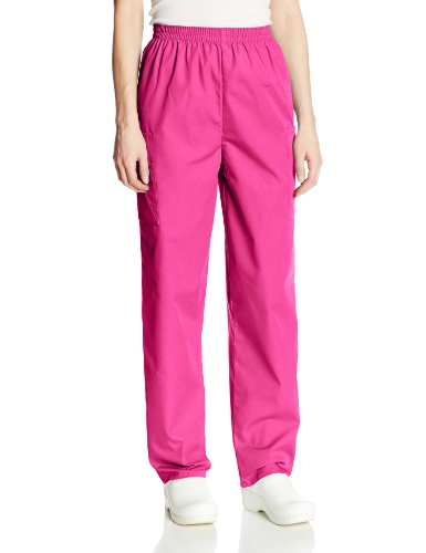 Large Azalea - Cherokee Women's Workwear Scrubs Pull-On Cargo Pant, Azalea, Large