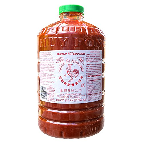 Huy Fong Sriracha, 8.5 Pound (1-Pack) (Chinese Hot Sauce With Rooster On Bottle)