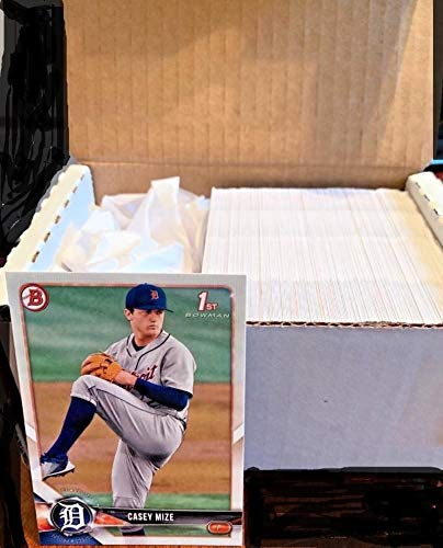2018 Bowman Draft Baseball Complete Hand Collated Set of 200 Cards in Near Mint to Mint Condition FREE SHIPPING IN THE USA includes first Bowman cards of the 2018 Draft Class including Mize, India, Gorman, Kelenic, Madrigal and many more