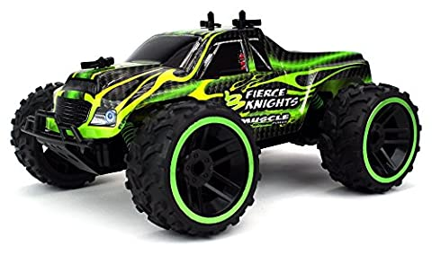 Fierce Knight Pickup Remote Control RC Truck 2.4 GHz PRO System 1:16 Scale Size RTR w/ Working Suspension, Spring Shock Absorbers (Colors May - Performance Brushless System