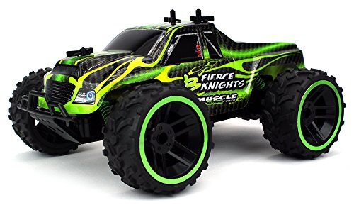 16 Nitro Powered Buggy (Fierce Knight Pickup Remote Control RC Truck 2.4 GHz PRO System 1:16 Scale Size RTR w/ Working Suspension, Spring Shock Absorbers (Colors May Vary))