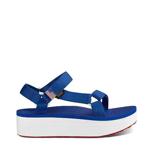5887cc345a91d Amazon.com | Teva Flatform Universal Sandal - Women's Casual Blue ...