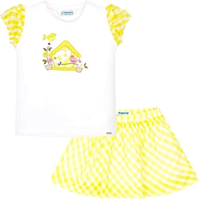 Mayoral Conjunto Camiseta y Falda Flores niña 3A: Amazon.es: Ropa ...