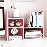 Jerry & Maggie - Desktop Organizer Office Storage Rack Adjustable Wood Display Shelf | Birthday Gifts - Toy - Home Decor | - Free Style Rotation Display - True Natural Stand Shelf