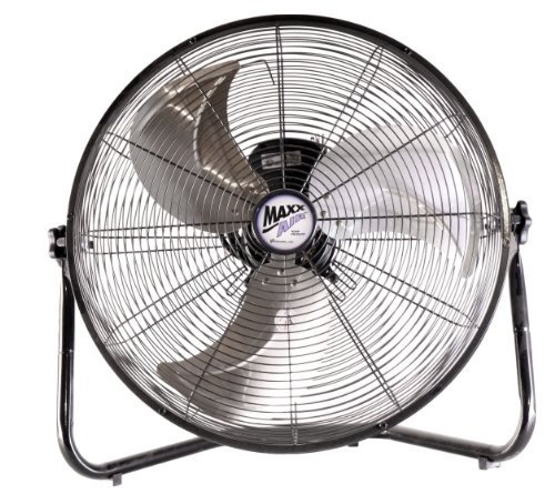 MaxxAir HVFF20UPS Multi Purpose High Velocity 3-Speed Floor Fan, 20-Inch