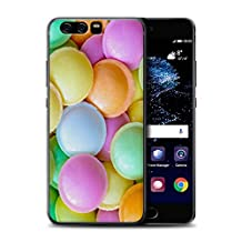 STUFF4 Gel TPU Phone Case / Cover for Huawei P10 / Flying Saucers Design / Confectionery Collection