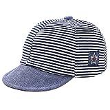 Balai Toddler Baby star embroidery Cotton Cap Kids Stripe Summer Autumn Sun Hat