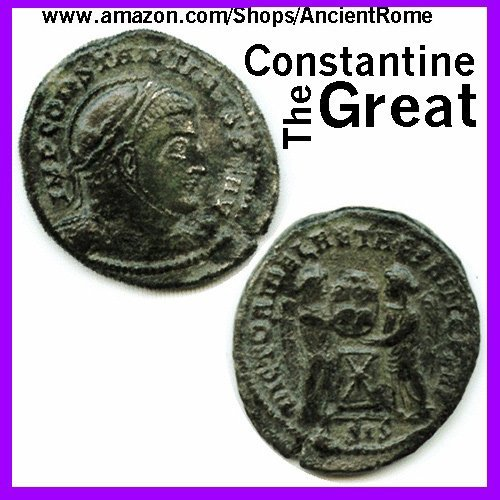 Nice Roman Bronze - Constantine the Great - Imperial Roman Empire Bronze Coin with Certificate of Authenticity