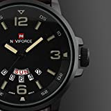 Mens-Unique-Analog-Quartz-Classic-Business-Casual-Waterproof-Dress-Wrist-Fashion-Watch-with-Brown-Leather-Band-and-Calendar-Date-Week-Window-Black